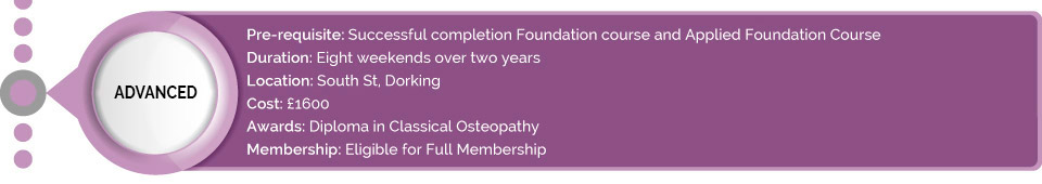 Advanced course osteopathy